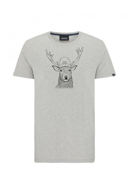 "Pánske šedé tričko ""DEER heather grey"""