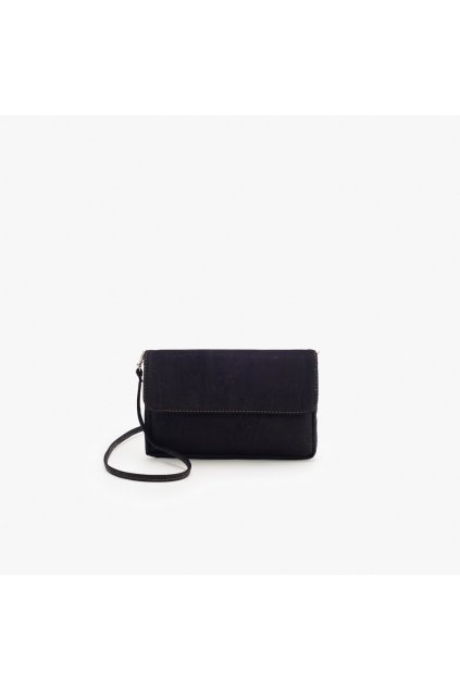 Dámska korková crossbody kabelka (menšia) - čierna