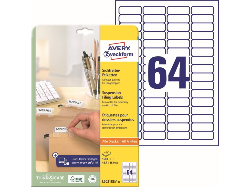 Avery Zweckform L6021REV-25