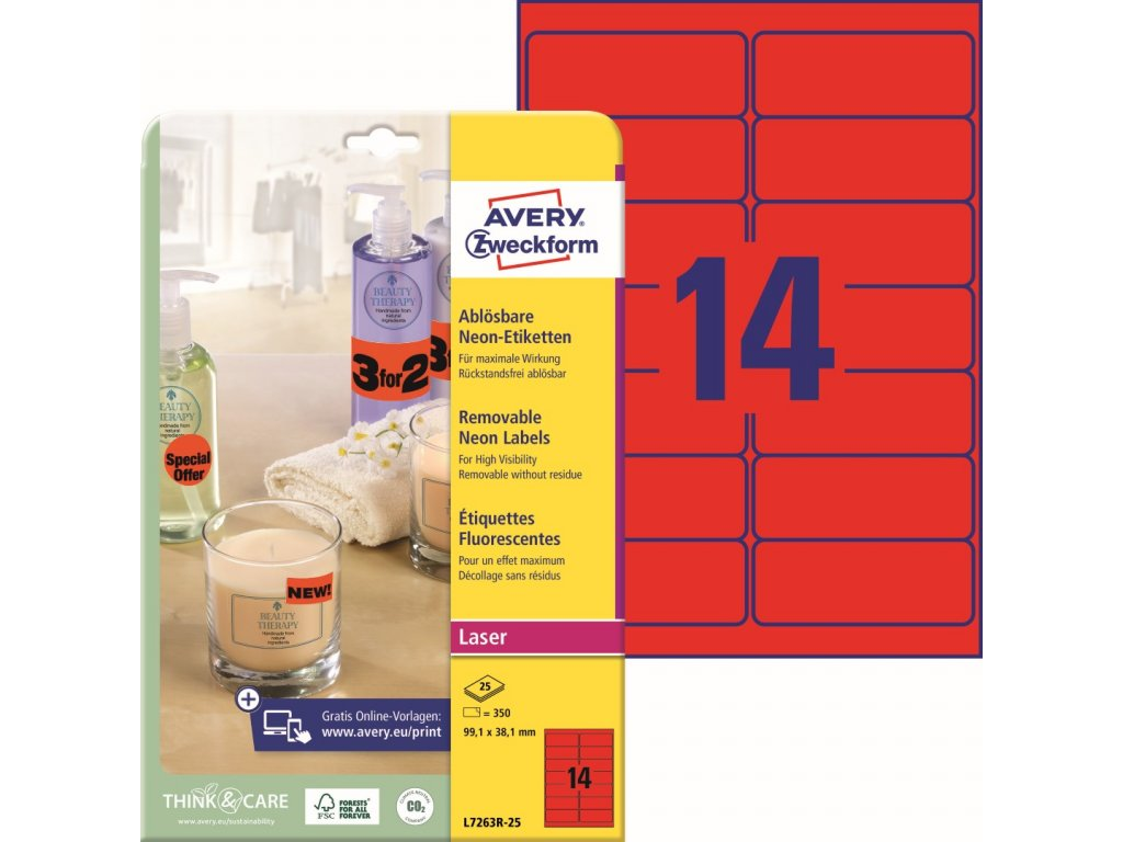 Avery Zweckform L7263R-25