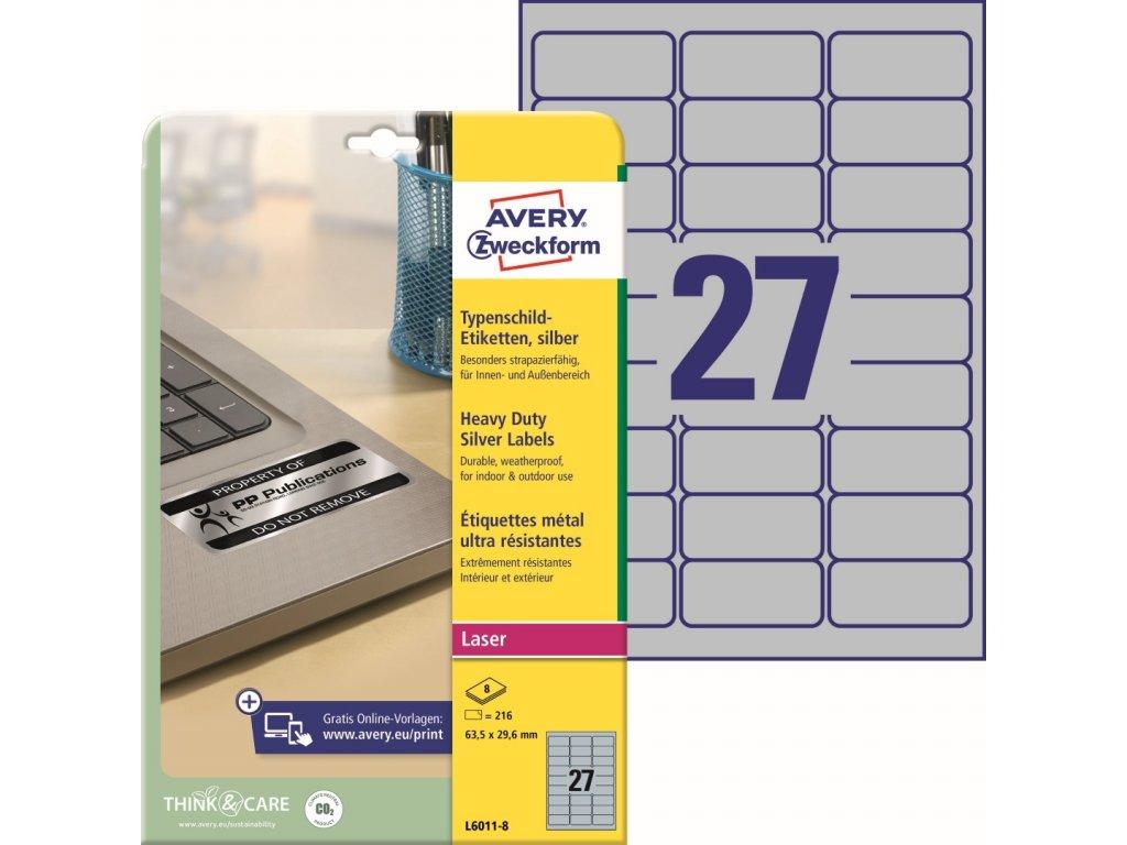 Velmi odolné etikety Avery Zweckform L6011-8
