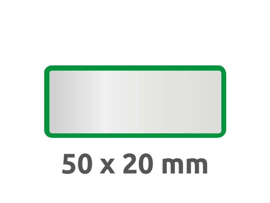 6916 4004182069165 Inventar Etikett Polyester gruen blanko 2 part (Large)