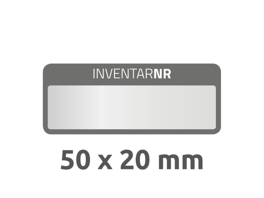 6905 4004182069059 Inventar Etikett Polyester schwarz 1 Feld 2 part (Large)