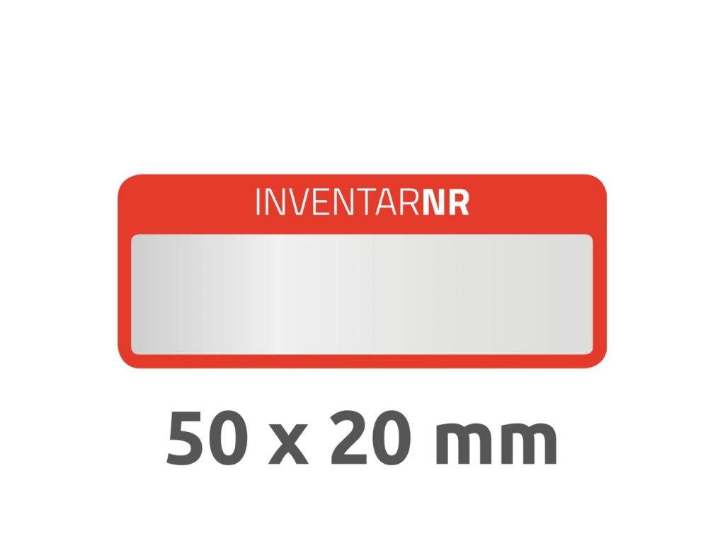 6907 4004182069073 Inventar Etikett Polyester rot 1 Feld 2 part (Large)