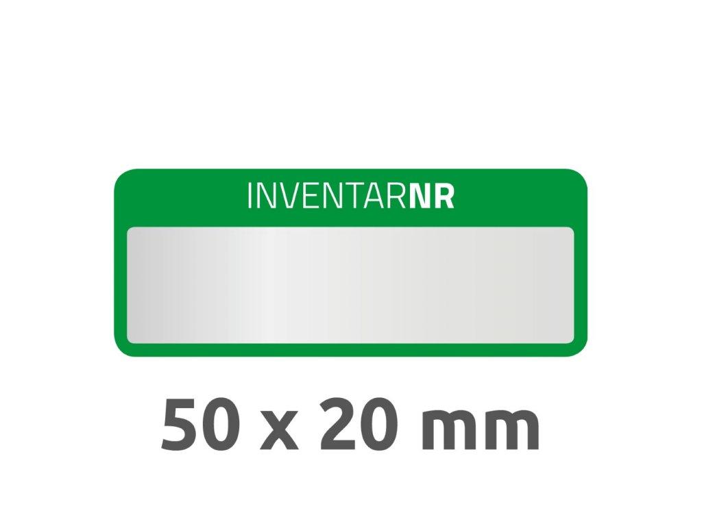 6908 4004182069080 Inventar Etikett Polyester gruen 1 Feld 2 part (Large)