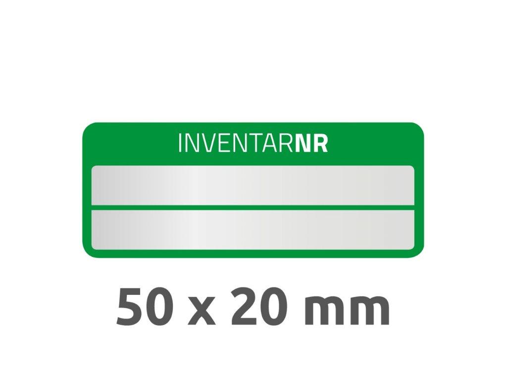 6912 4004182069127 Inventar Etikett Polyester gruen 2 Felder 2 part (Large)