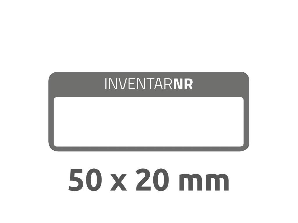 6917 4004182069172 Inventar Etikett Abziehsicher schwarz 1 Feld 2 part (Large)