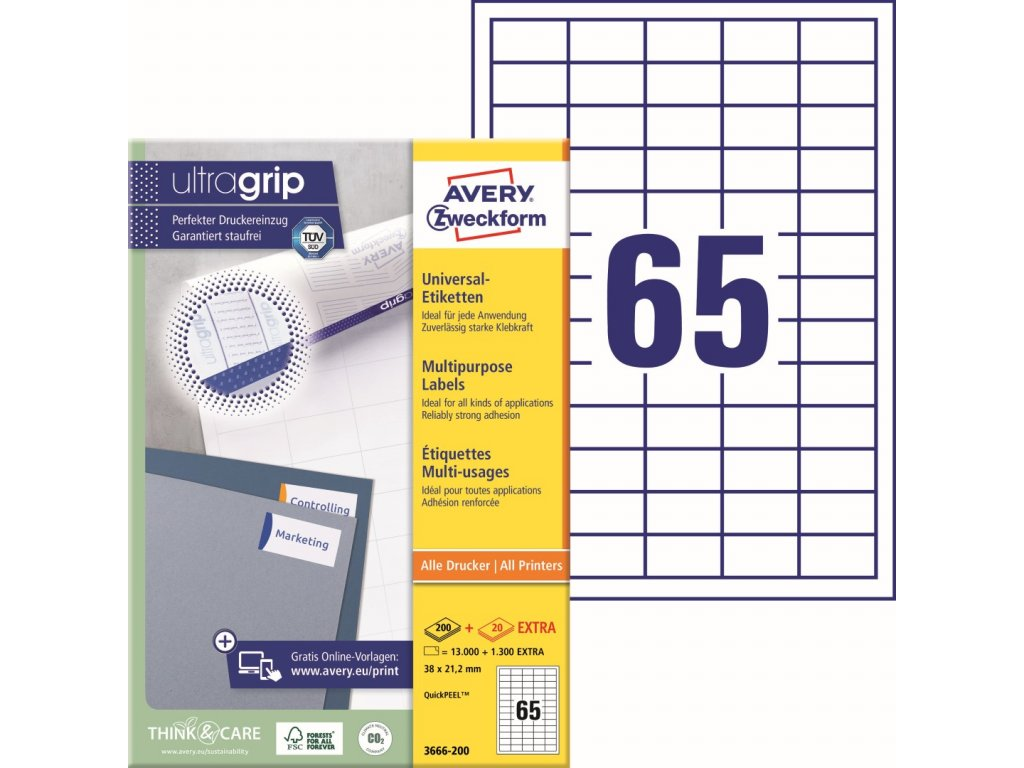 Avery Zweckform 3666-200 4004182249451