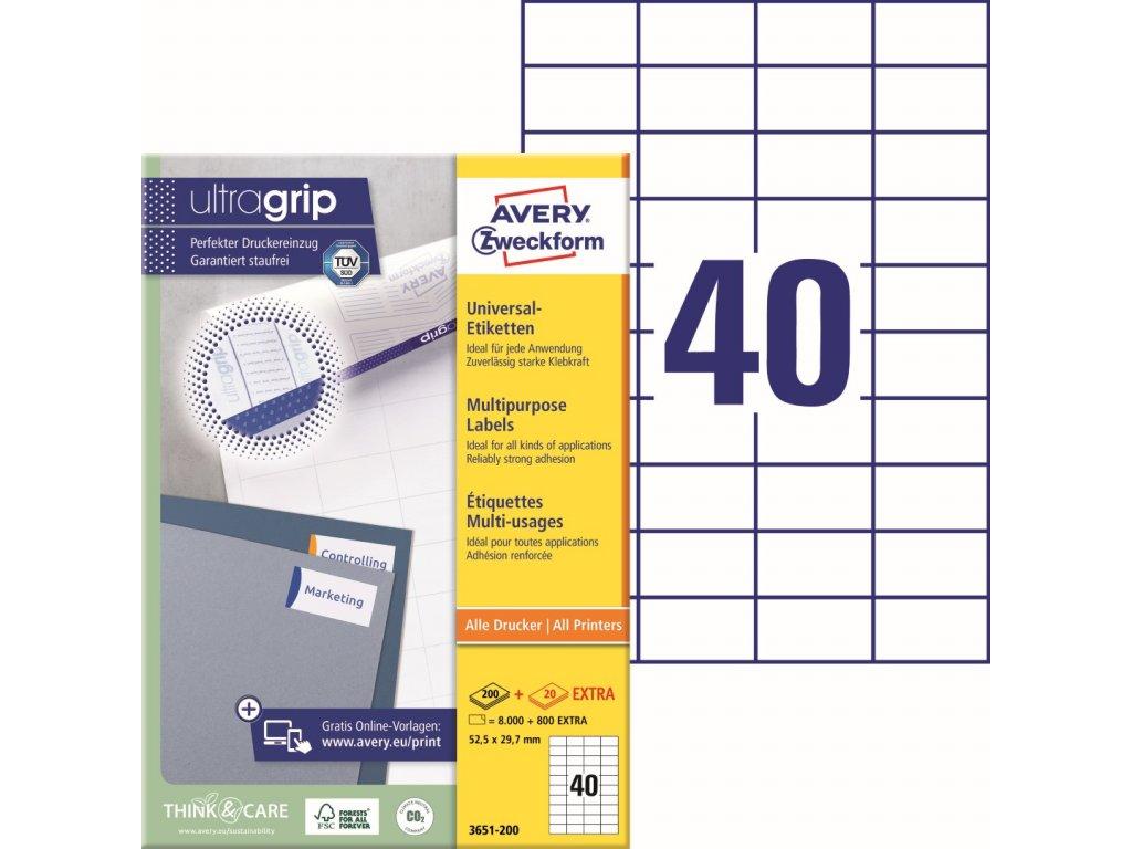 Samolepící etikety Avery Zweckform 3651-200