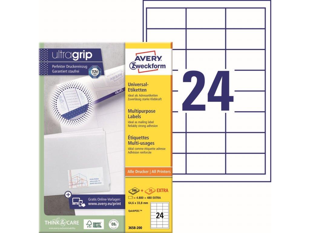 Samolepící etikety Avery Zweckform 3658-200