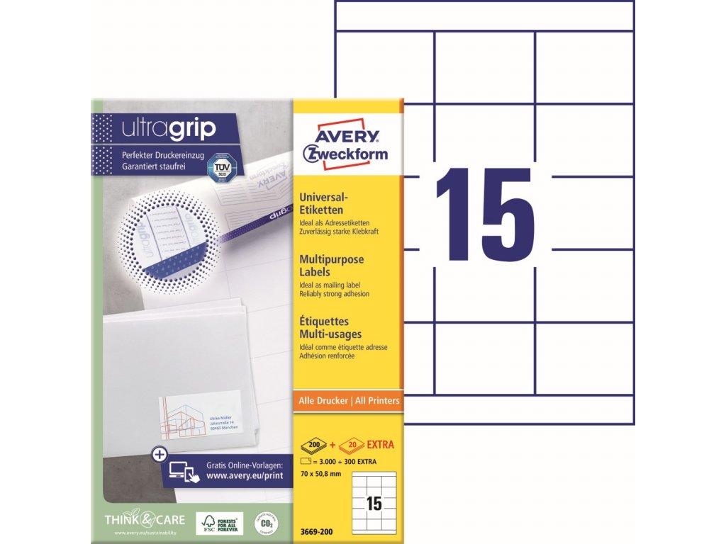 Samolepící etikety Avery Zweckform 3669-200