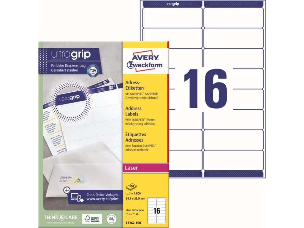 Avery Zweckform L7162-100