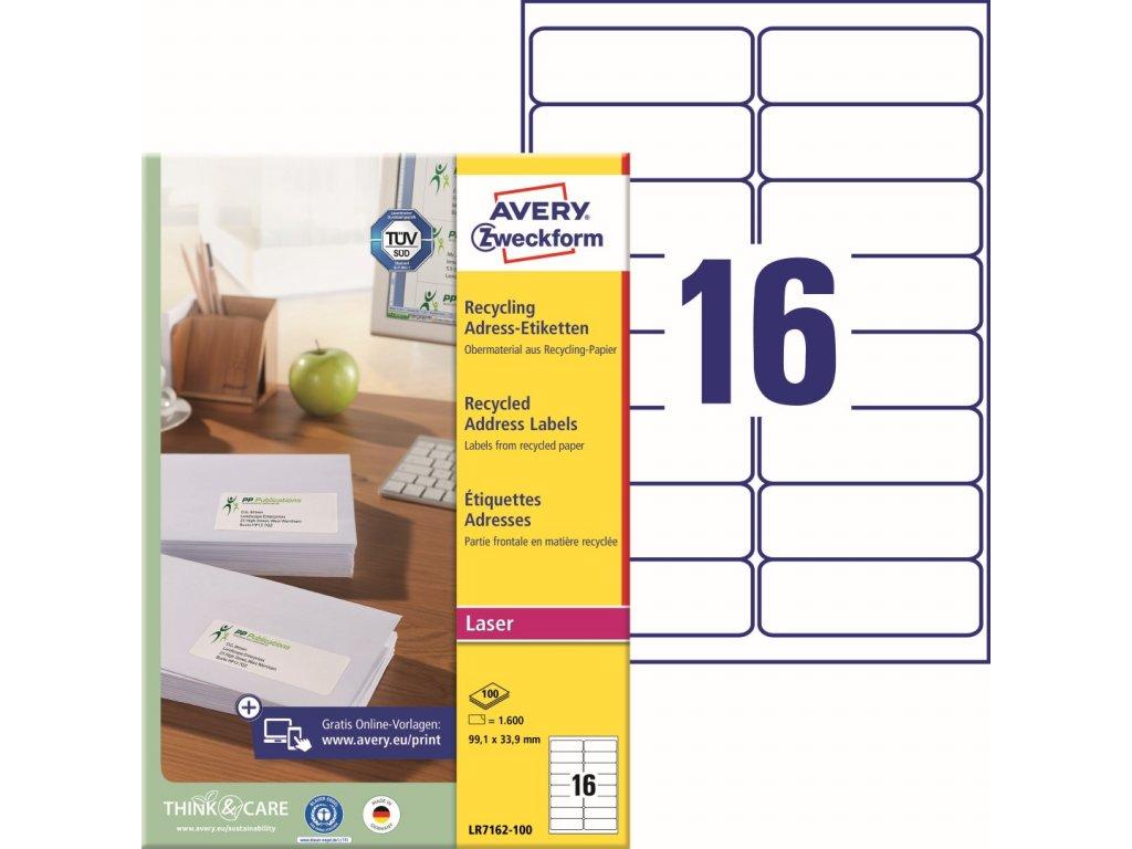 Avety Zweckform LR7162-100
