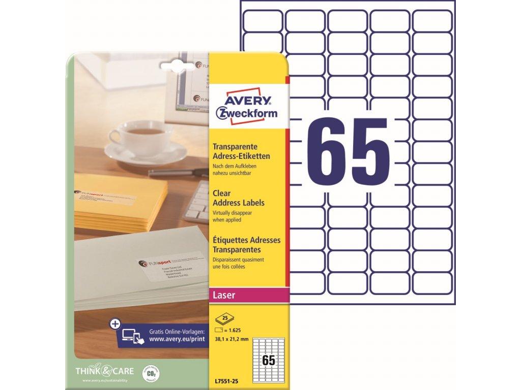 Avery Zweckform L7551-25