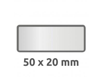 6913 4004182069134 Inventar Etikett Polyester schwarz blanko 2 part (Large)