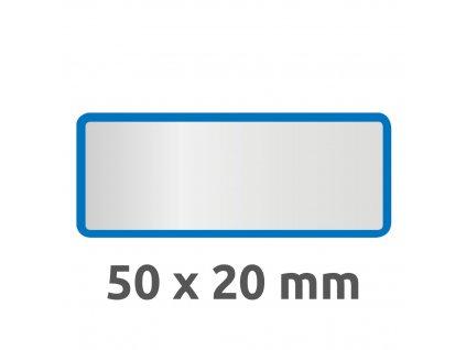 6914 4004182069141 Inventar Etikett Polyester blau blanko 2 part (Large)