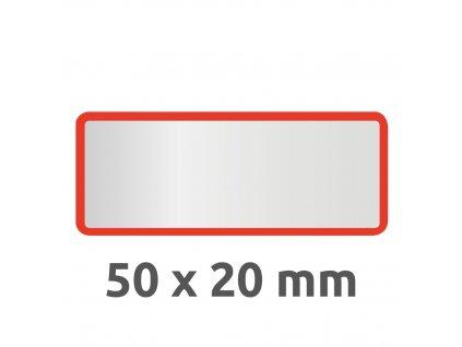 6915 4004182069158 Inventar Etikett Polyester rot blanko 2 part (Large)