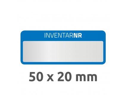 6906 4004182069066 Inventar Etikett Polyester blau 1 Feld 2 part (Large)