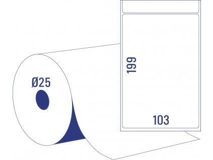 Termoetikety (DT) na kotouči TD8060-25