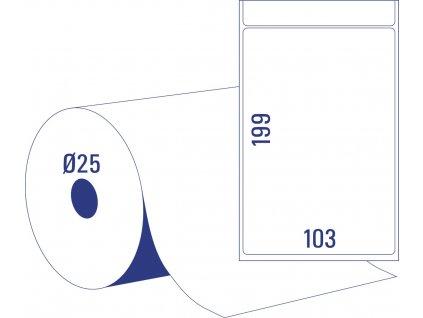 Termoetikety (DT) na kotouči | TD8060-25