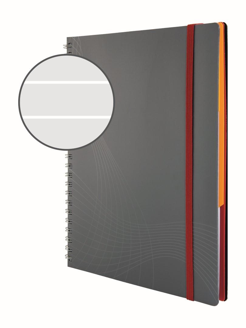 Avery Zweckform Notizio 7014   Poznámkový blok, formát A5, 90 listů, linkovaný papír, gramáž 90g/m2, dvoukroužková vazba, desky z plastu (PP).