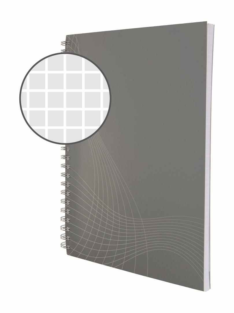 Avery Zweckform Notizio 7011   Poznámkový blok, formát A5, 80 listů, čtverečkovaný papír, gramáž 90g/m2, dvoukroužková vazba, desky z měkkého kartonu.