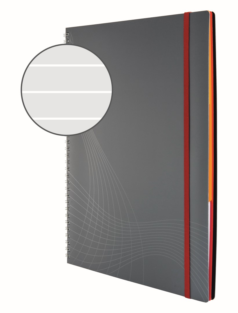 Avery Zweckform Notizio 7016   Poznámkový blok, formát A4, 90 listů, linkovaný papír, gramáž 90g/m2, dvoukroužková vazba, desky z plastu (PP).