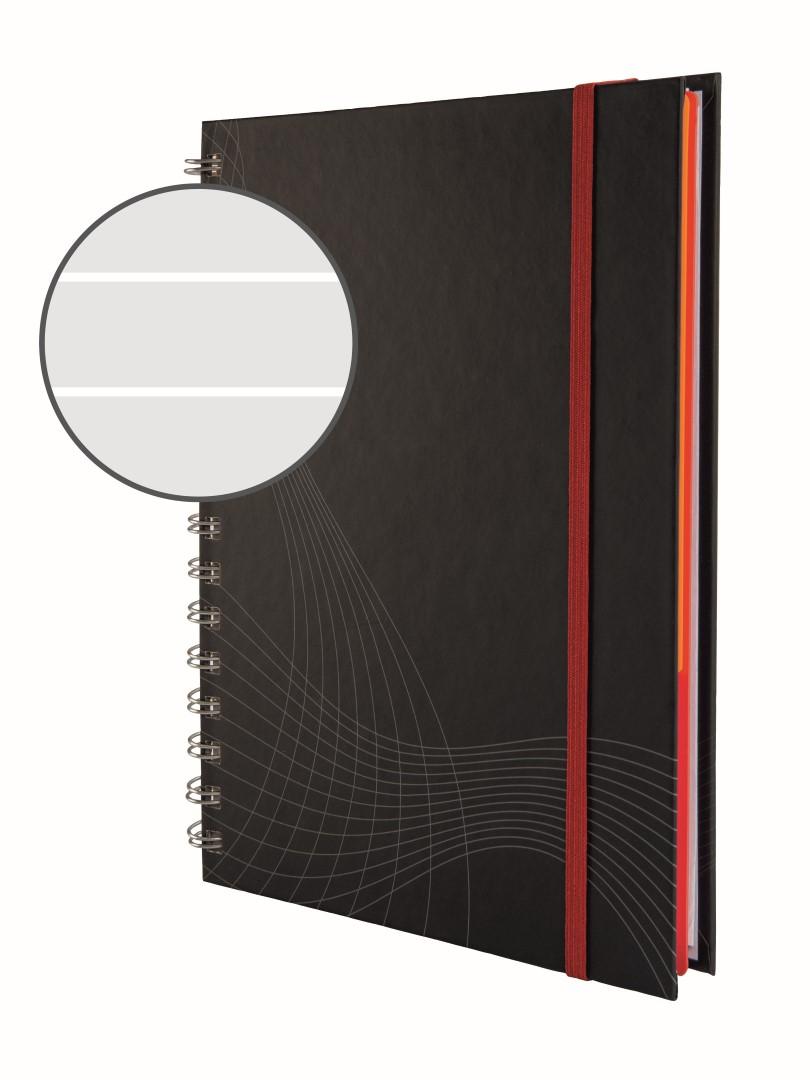 Avery Zweckform Notizio 7022   Poznámkový blok, formát A5, 90 listů, linkovaný papír, gramáž 90g/m2, dvoukroužková vazba, tvrdé knižní desky.