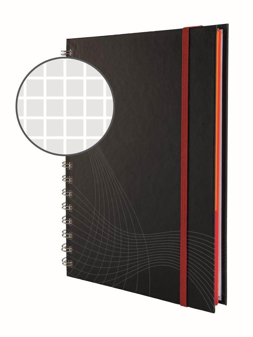 Avery Zweckform Notizio 7023   Poznámkový blok, formát A5, 90 listů, čtverečkovaný papír, gramáž 90g/m2, dvoukroužková vazba, tvrdé knižní desky.