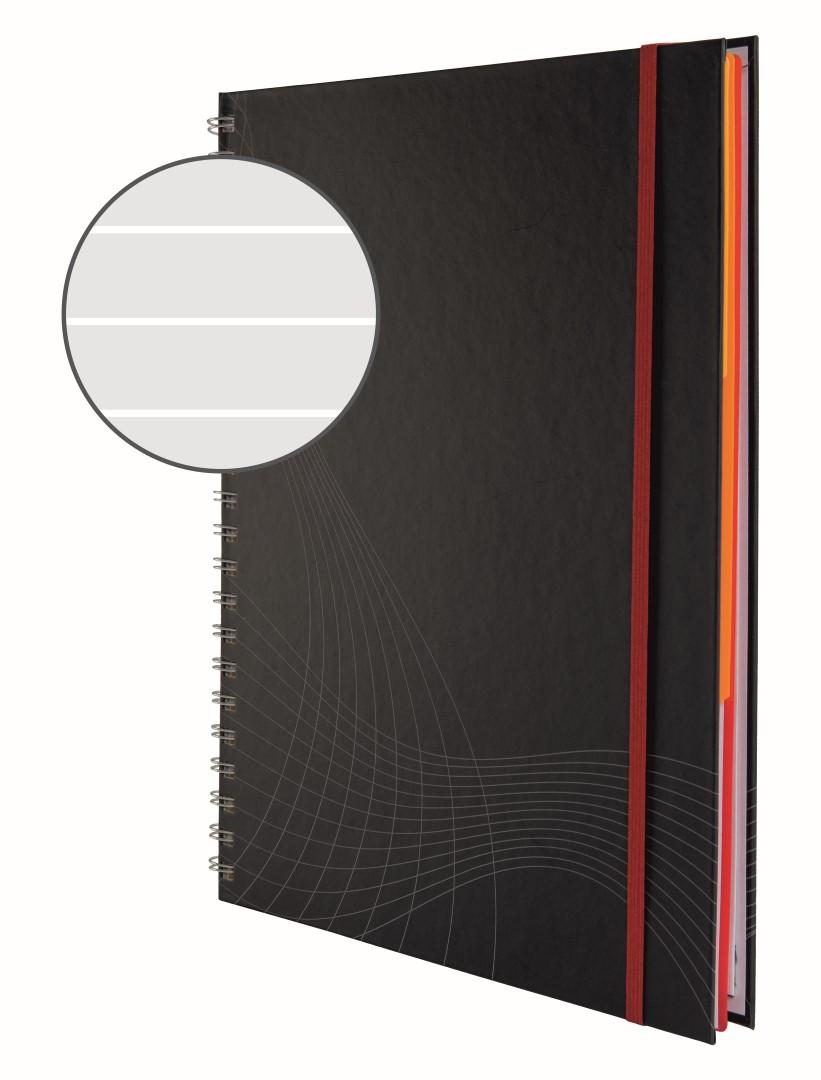 Avery Zweckform Notizio 7024   Poznámkový blok, formát A4, 90 listů, linkovaný papír, gramáž 90g/m2, dvoukroužková vazba, tvrdé knižní desky.
