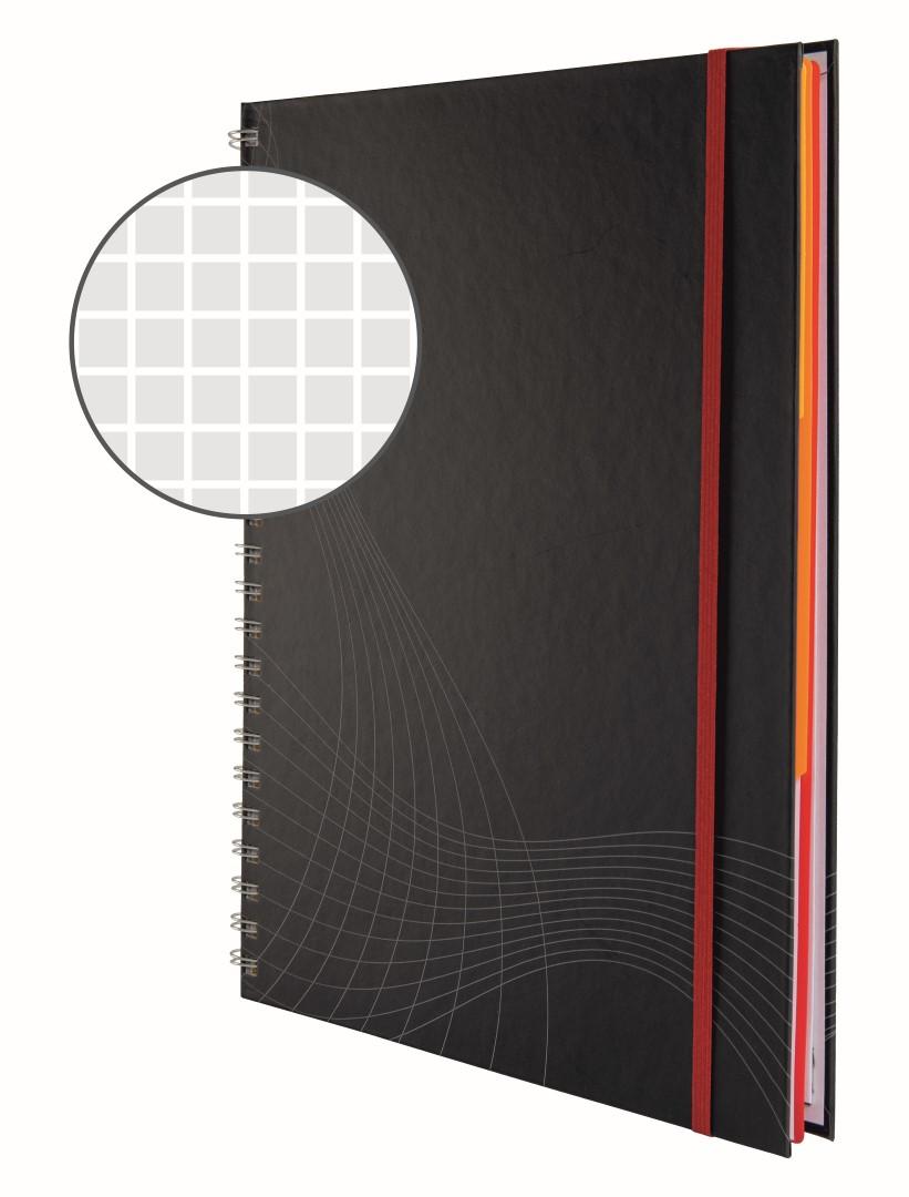 Avery Zweckform Notizio 7025   Poznámkový blok, formát A4, 90 listů, čtverečkovaný papír, gramáž 90g/m2, dvoukroužková vazba, tvrdé knižní desky.