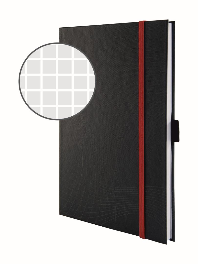 Avery Zweckform Notizio 7027   Poznámkový blok, formát A5, 80 listů, čtverečkovaný papír, gramáž 90g/m2, tuhá vazba, tvrdé knižní desky.