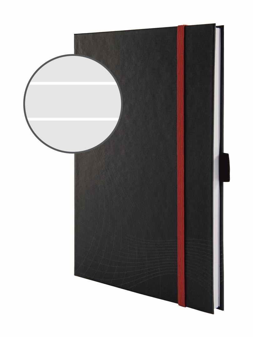 Avery Zweckform Notizio 7026   Poznámkový blok, formát A5, 80 listů, linkovaný papír, gramáž 90g/m2, tuhá vazba, tvrdé knižní desky.