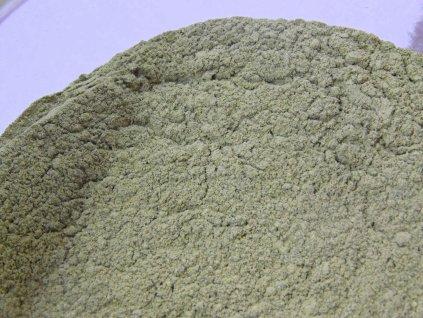 borneo white vein kratom powder pile