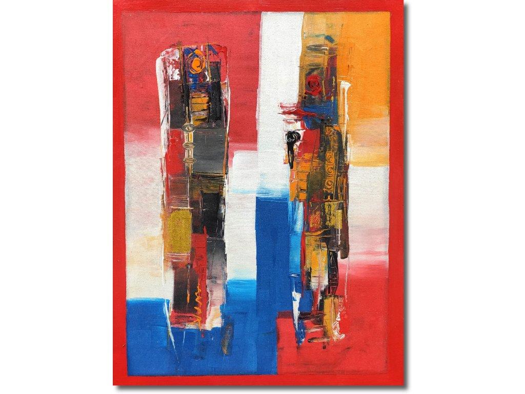 Abstraktní červený obraz