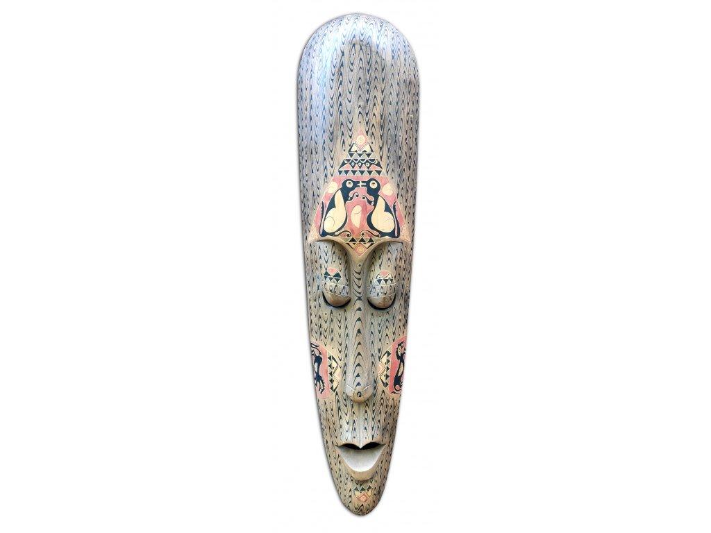 Dřevěná etno maska na zeď