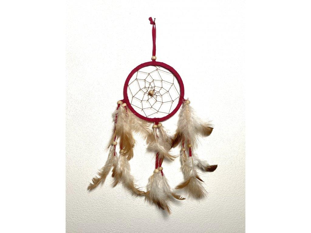 červený lapač snů : lapač snů s peřím : lapač snů velký