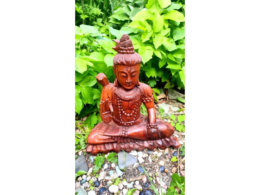 Dřevěná socha boha Šivy