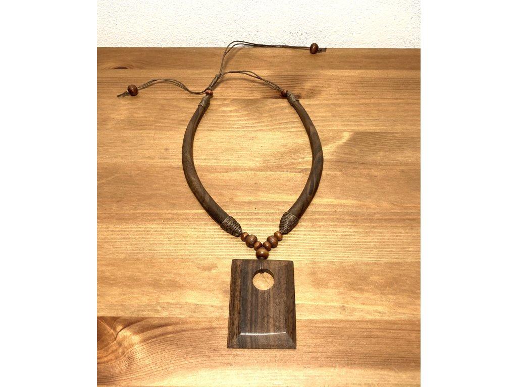 dřevěný náhrdelník : etno náhrdelník : přírodní náhrdelník
