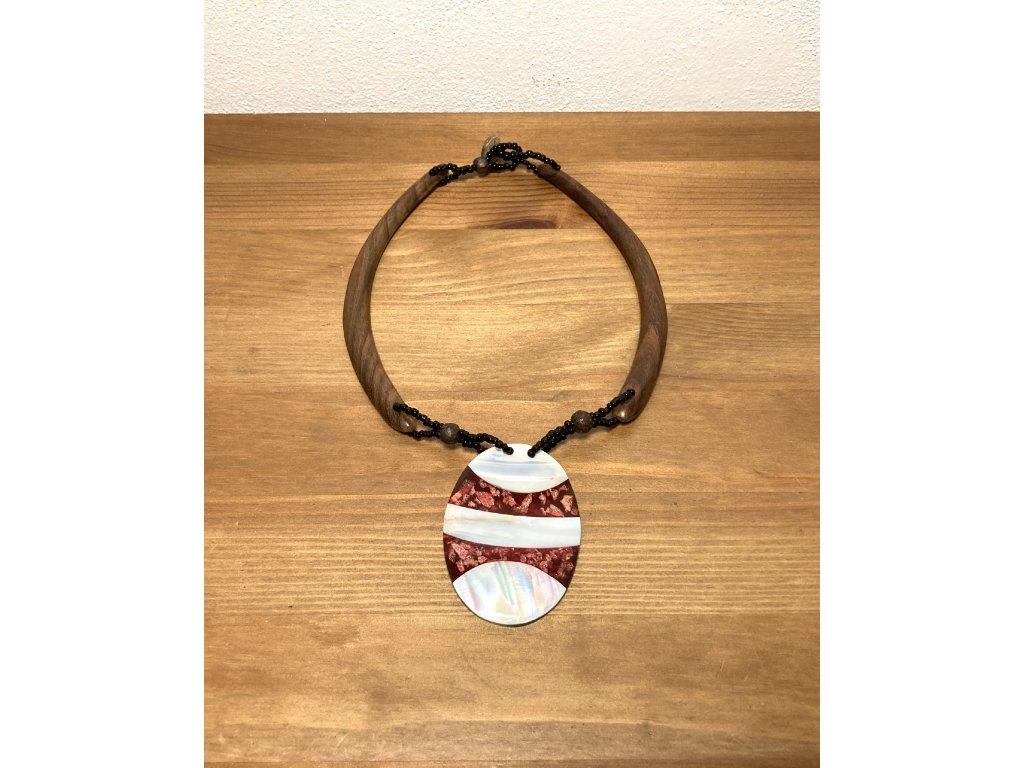 etno : perleť : náhrdelník