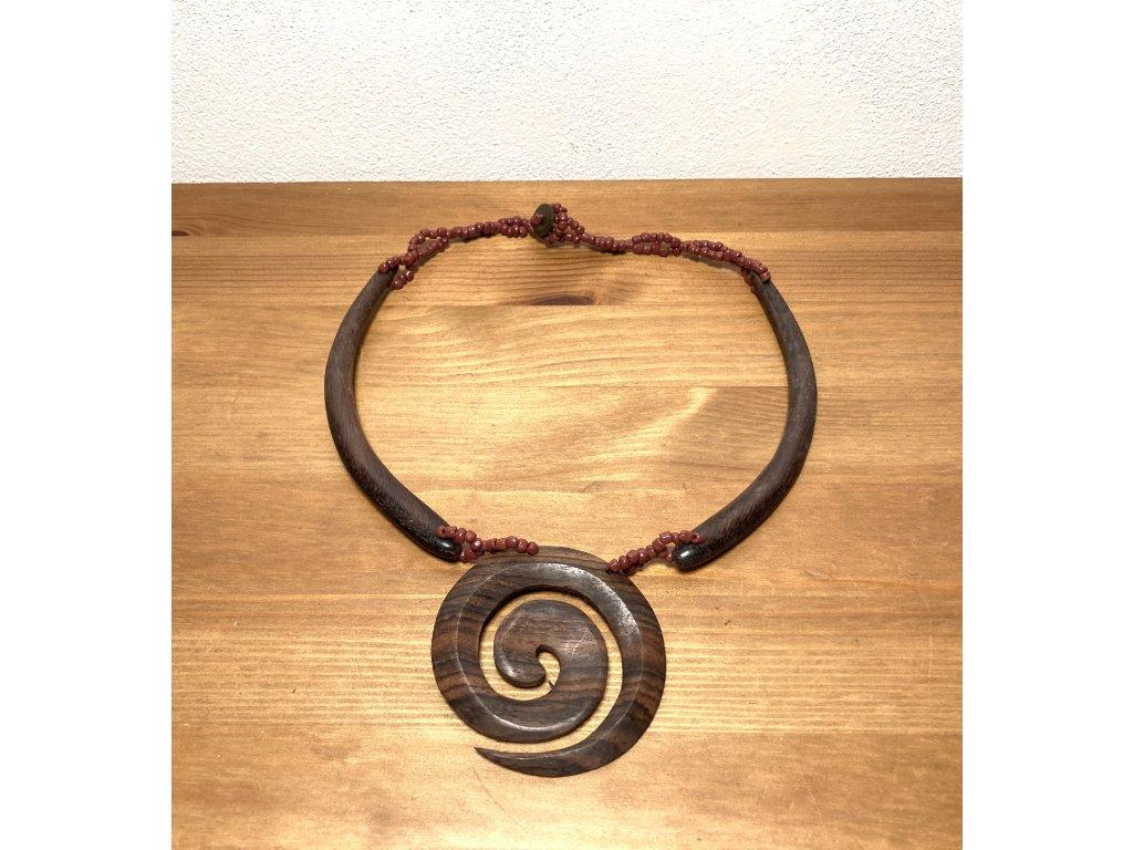 etno : náhrdelník : dřevěný