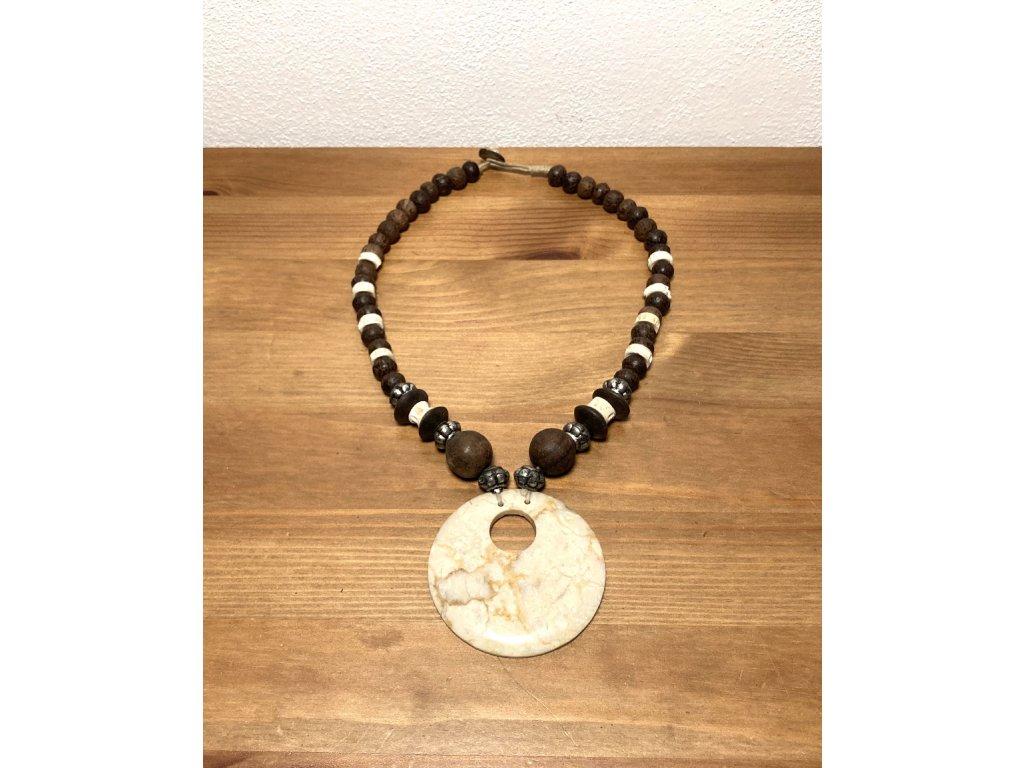 etno náhrdelník : přírodní náhrdelník : náhrdelník s kamenem