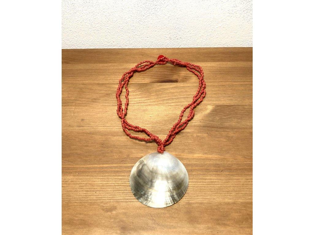 přírodní : náhrdelník : mušle