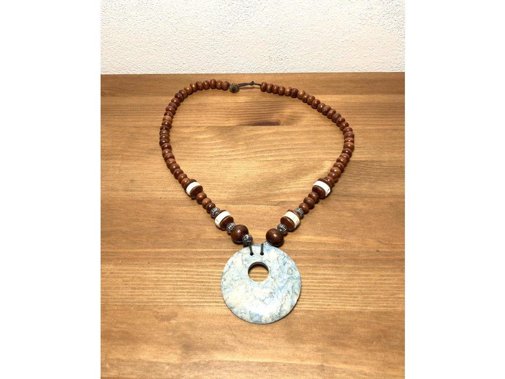 etno náhrdelník : náhrdelník s kamínkem : zajímavé náhrdelníky