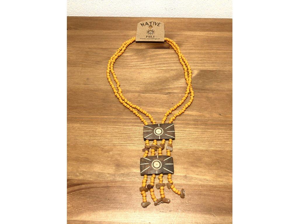 přírodní náhrdelník : etno náhrdelník : náhrdelník kokos