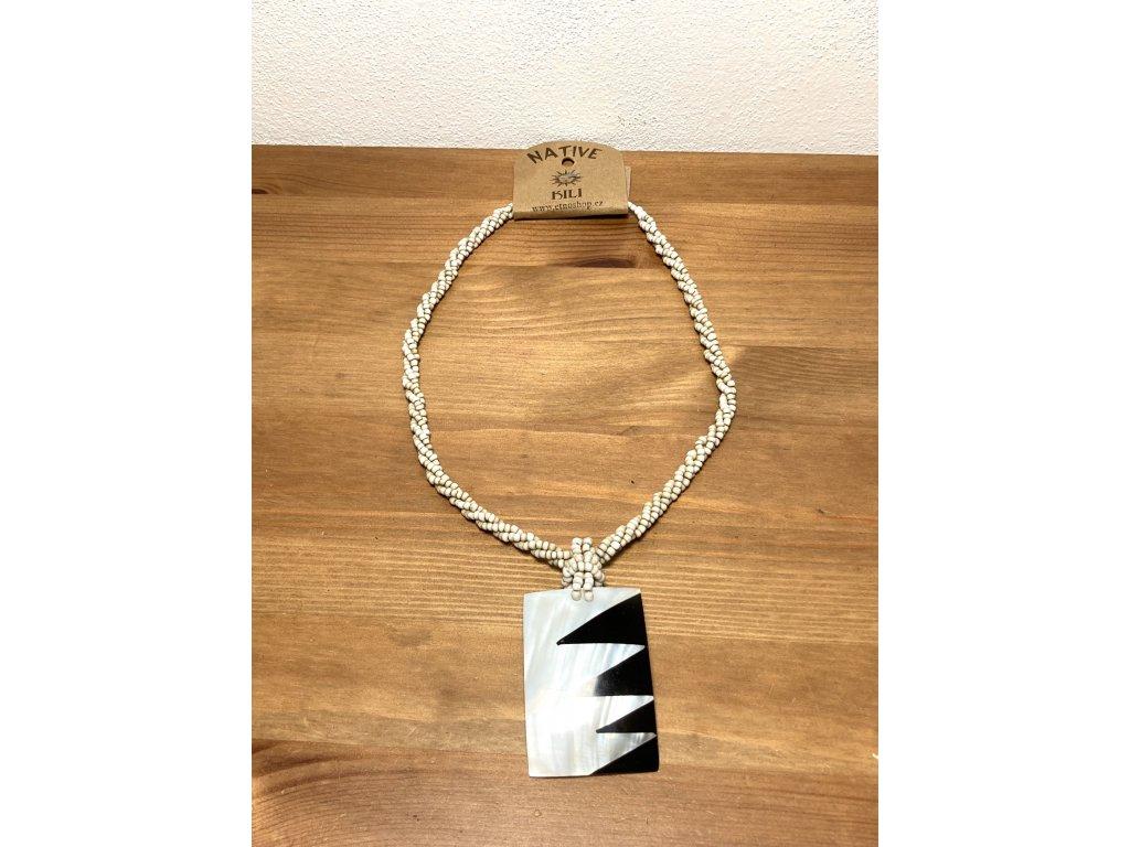 perleťový náhrdelník : náhrdelník perleť : přírodní náhrdelník