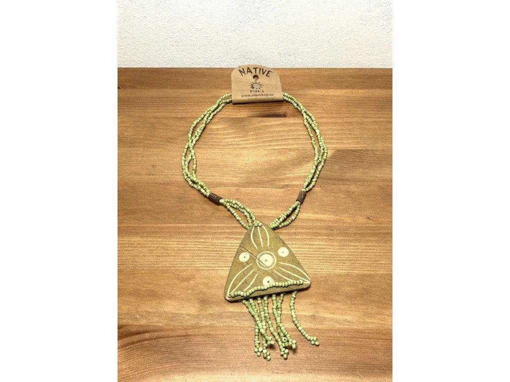 náhrdelník sklo : náhrdelník etno : náhrdelník kokos