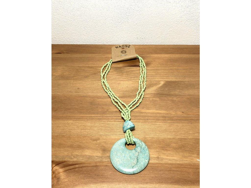 modré sklo : náhrdelník z modrého skla : náhrdelník kámen