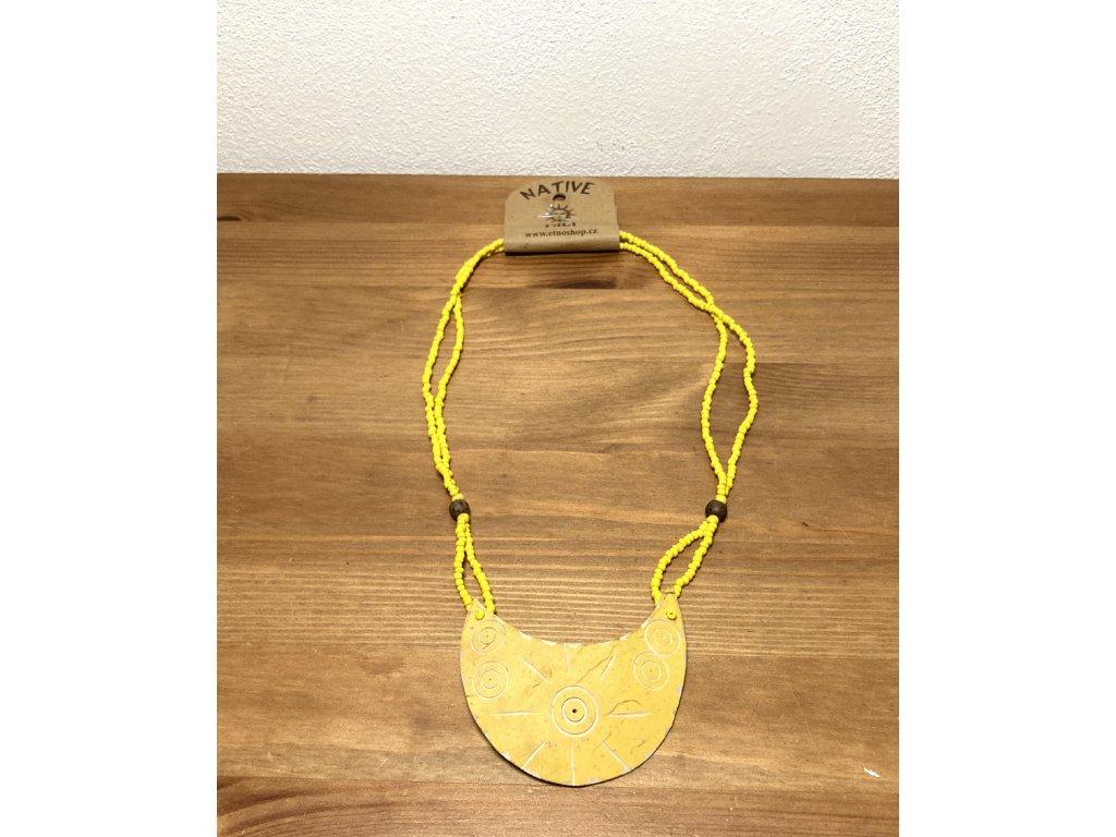 náhrdelník z kokosu : přírodní náhrdelník : etno