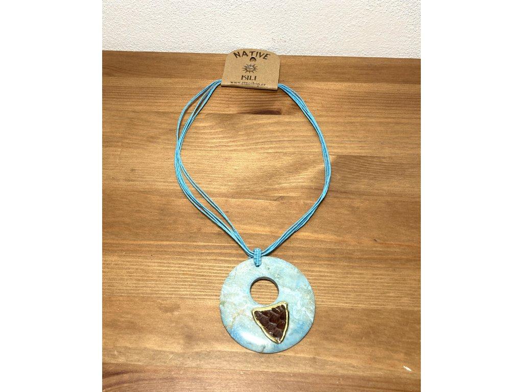 etno náhrdelník : etno šperky : šperk s kamínkem